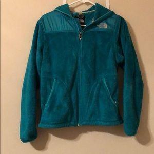 The North Face teal full zip fleece